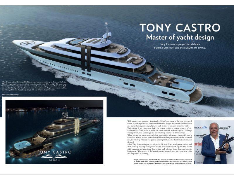 Advertorial for Tony Castro Yacht Design 1